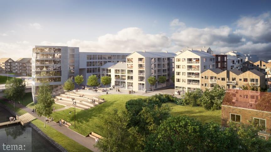 Riksbyggen kommer att bygga nya bostäder i bland annat Skellefteå, i kvarteret Strömsör, i ett samarbete med Skelleftebostäder, Skebo.
