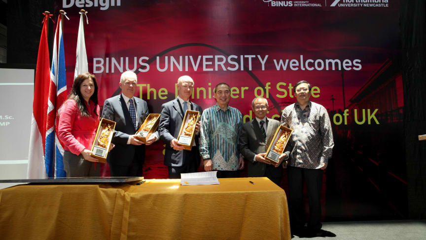 UK Minister welcomes Northumbria's growing presence in Indonesia