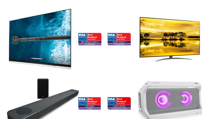 LGs nyeste innovationer inden for TV og lyd belønnes med flere priser til årets EISA Awards