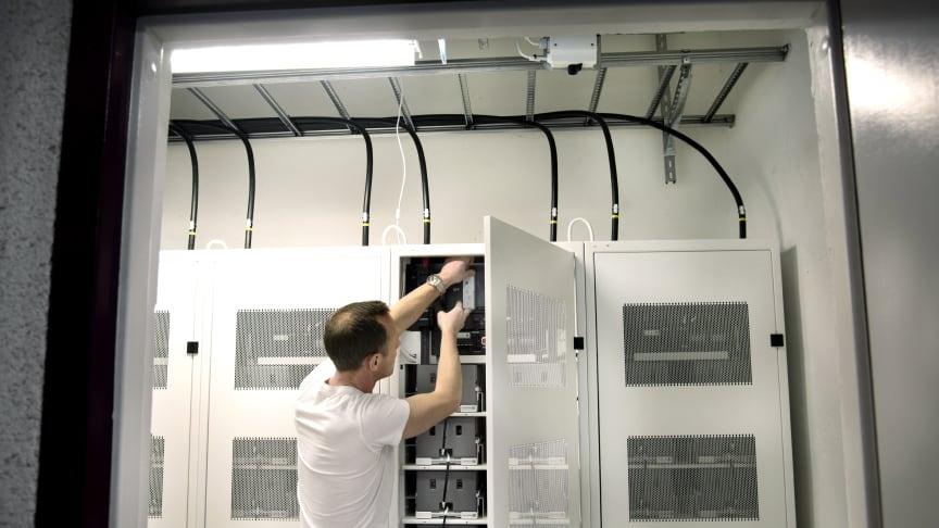 Primrocks energilager för leverans av balans- och kapacitetstjänster i Stockholm. / Foto: Kristina Sahlén