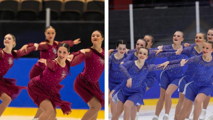 Team Spirit och Team Seaside till Junior-VM i synkroniserad konståkning