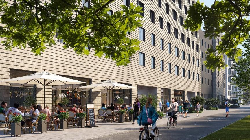 Säljstart för Riksbyggens Brf Futura Lindholmsallén i Lindholmshamnen i Göteborg
