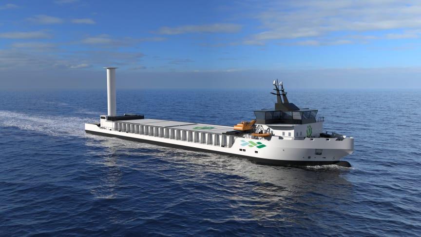 HEILO vil inneholde informasjon rundt ulike hydrogenprosjekter, som dette fartøyet som verftet Vard bygger for HeidelbergCement og Felleskjøpet