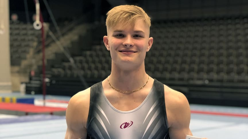 David Rumbutis vinner SM i manlig artistisk gymnastik