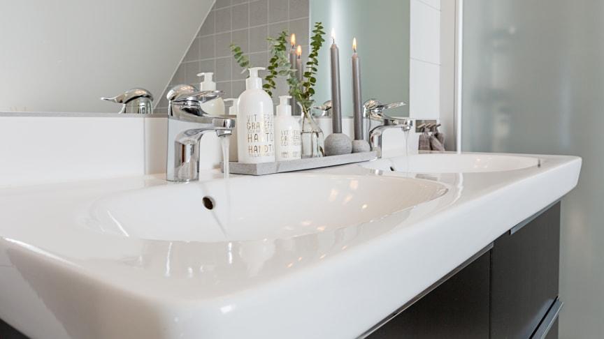 Eksjöhus chose the FM Mattsson 9000E as a standard mixer for kitchens and bathrooms.