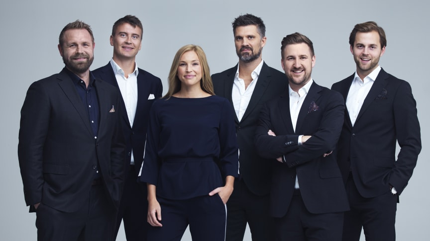 Joachim Boldsen, Ole Erevik, Kaja Snare, Kristian Kjelling, Daniel Høglund og Ørjan Bjørnstad gir deg håndball-EM på Viaplay og TV3. FOTO: Rune Bendiksen/NENT Group