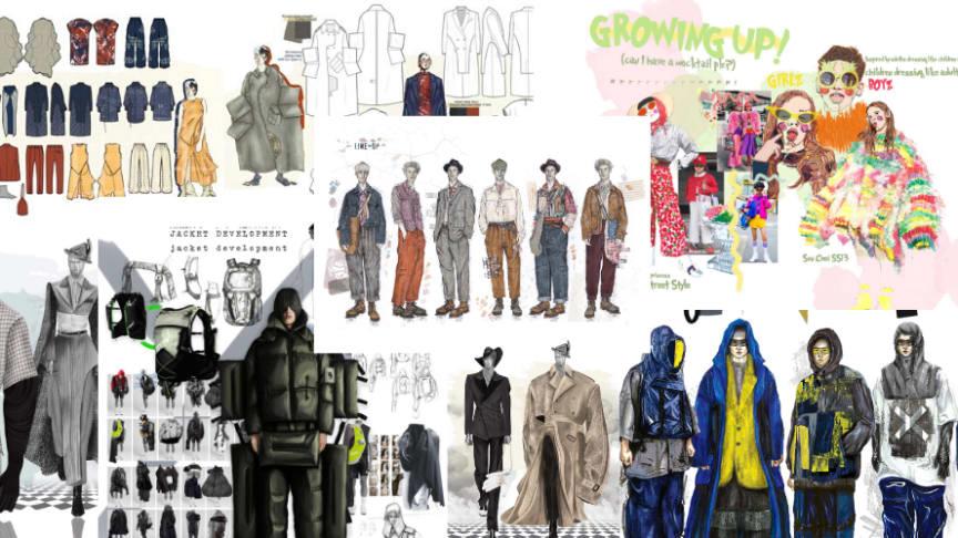 Designs by the six Northumbria University Graduate Fashion Foundation Awards finalists
