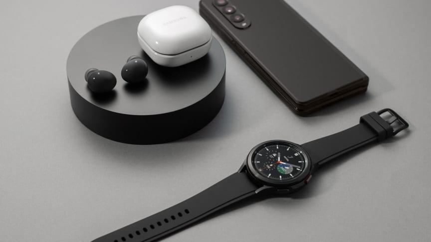 Samsungs nye Galaxy Z fold-serie, Galaxy Watch 4-serien og Galaxy Buds2 fås nu i butikkerne