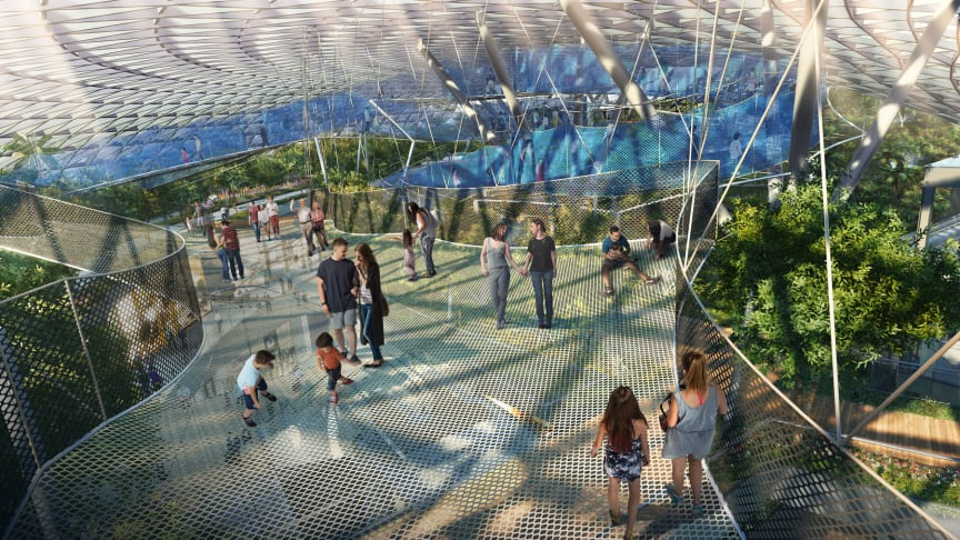 New lifestyle attraction to feature world-class play attractions and gardens  in air-conditioned comfort
