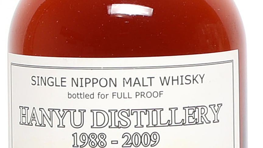 "1 bt. Hanyu ""Big Butt"", Single Nippon Malt Whisky 1988 A-A/B (bn)."