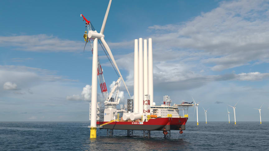 Dominion Energy's new Wind Turbine Installation Vessel, due for delivery by the end of 2023, will be built by Keppel AmFELS and fitted with Kongsberg Maritime's field-proven integrated solution for WTIV operation