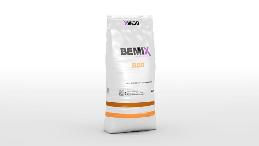 Bemix lanserar lagningsbruk R50 i plastsäck