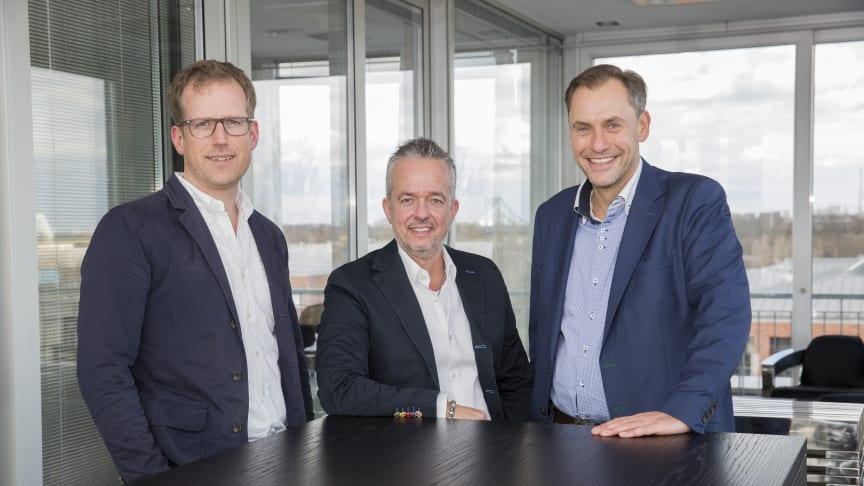 Folkert Schultz, Torsten Toeller und Dr. Hans-Jörg Gidlewitz (v.l.) bilden das neue starke Trio der Fressnapf-Gruppe