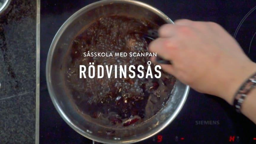 Scanpans såsskola - Rödvinssås