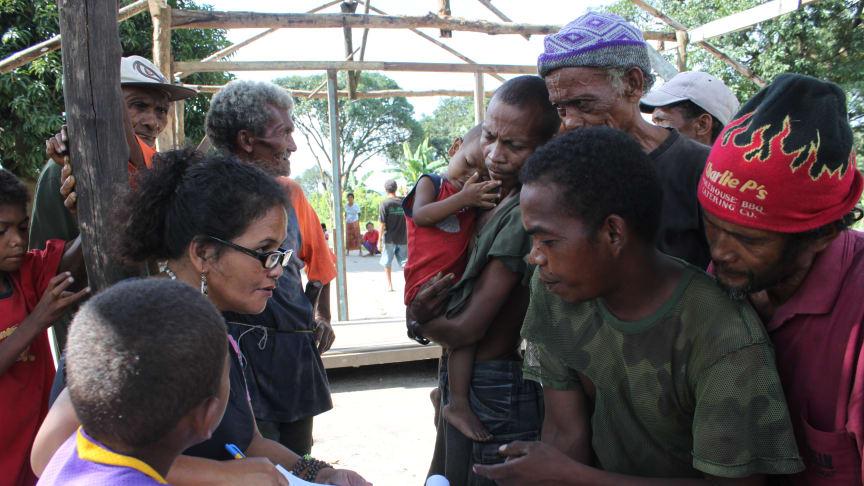 Fältarbete på ön Luzon, i samband med studien. Foto: Ophelia Persson
