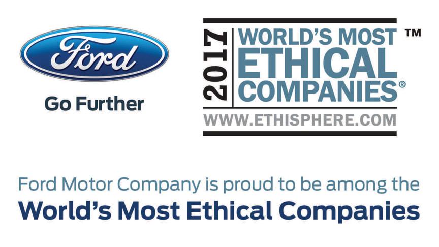 Ford Motor Company er for 8. år i træk kåret som en af verdens mest etiske virksomheder