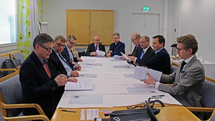 Allianssisopimuksen allekirjoitustilaisuus pidettiin Rovaniemellä 3.2.2020.