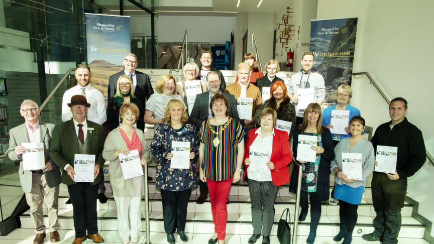 Pictured is local community representatives from Broughshane and tourism and hospitality trade who participated in the WorldHost training.