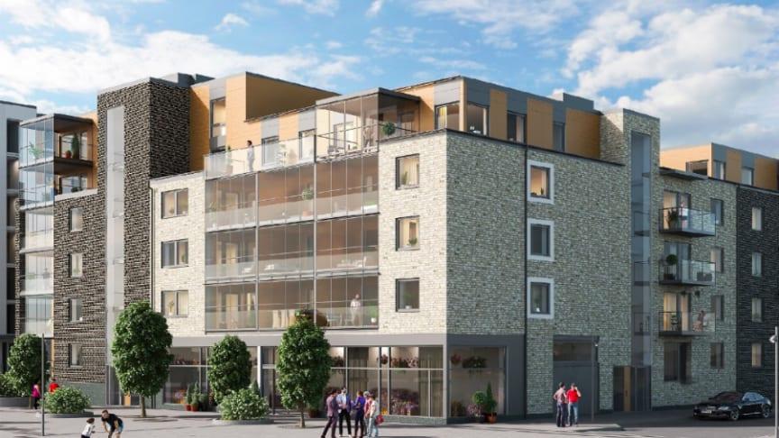 Klart för byggstart av nya seniorbostäder i Bonum Brf Blåregnet! Hälften av de 46  lägenheterna är redan sålda.