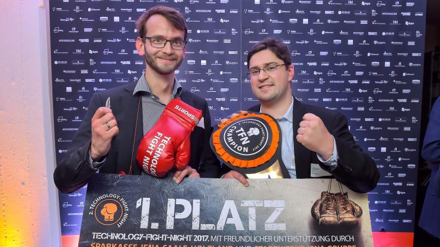 Tech-Fight-Night Champions 2017: Martin Correns (links) und Edgar Reetz (rechts) (Foto: Jürgen Scheere)