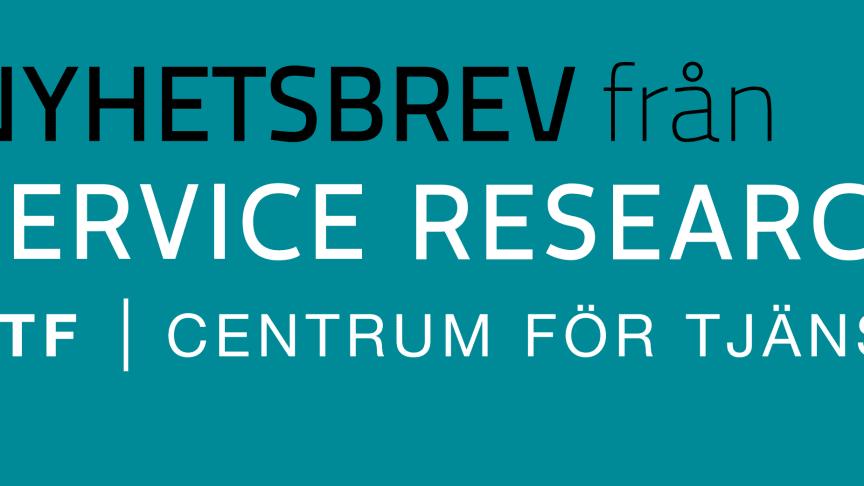 Nyhetsbrev nr 5, 2017, från CTF, Centrum för tjänsteforskning vid Karlstads universitet