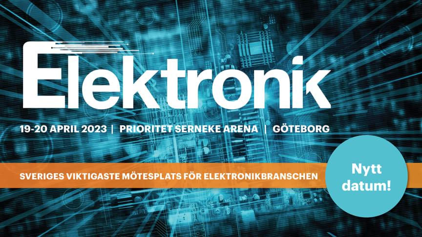 Elektronikmässan Göteborg flyttar fram till 19-20 april 2023