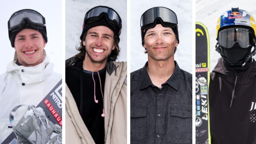 Sven Thorgren, Henrik Harlaut, Oscar Wester och Jesper Tjäder (reserv) är i Oslo för att representera Sverige i X-games.