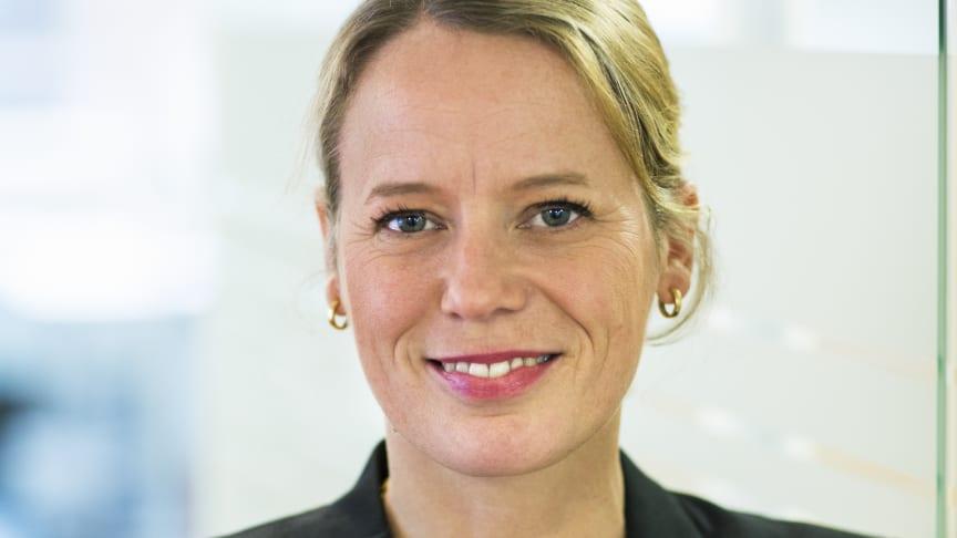 Lina Öien, chef för enheten för hållbar utveckling, Riksbyggen