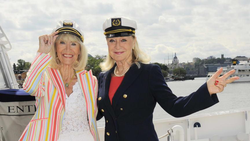 Båtvärdinnor är Birgitta Stubbing & Alexandra Charles.