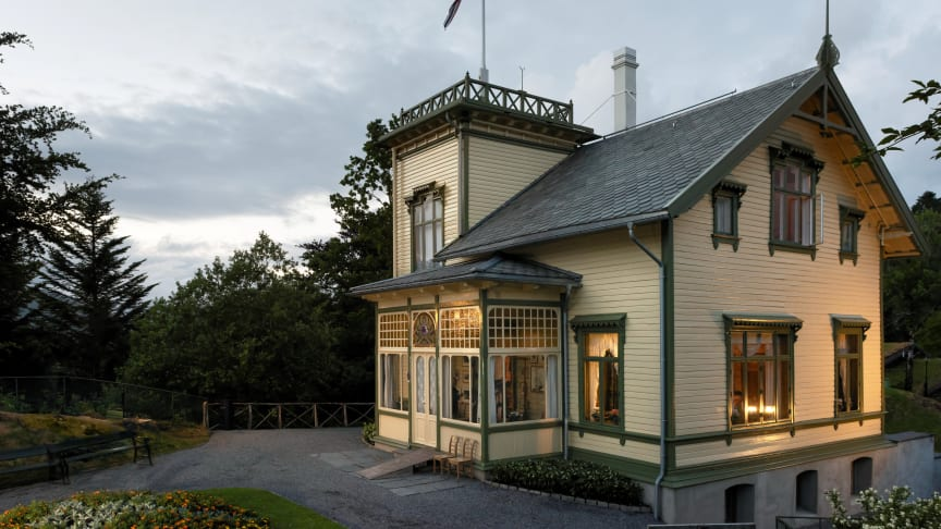 Pressekonferansen finner sted på Troldhaugen i Bergen.