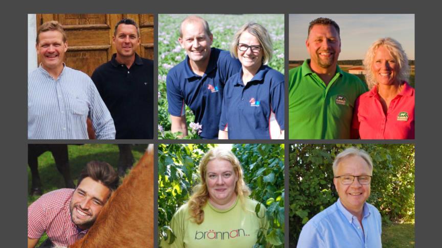 De sju nominerade bönderna som går vidare i tävlingen Årets klimatbonde