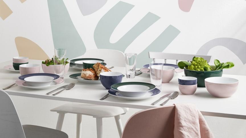 Der leichte Pastell-Ton lässt sich gut mit den bestehenden Sunny Day Farben, wie Herbal Green oder Nordic Blue, kombinieren.