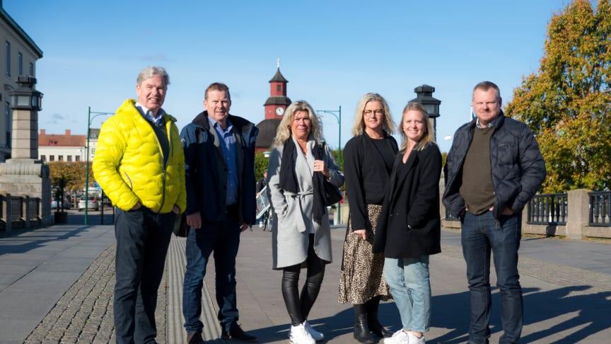 Från vänster; Tomas Enhager, Urban Olsson, Anna Sundbom, Cecilia Gustafsson Lagergren, Victoria Möller, Carl-Fredrik Svederberg.