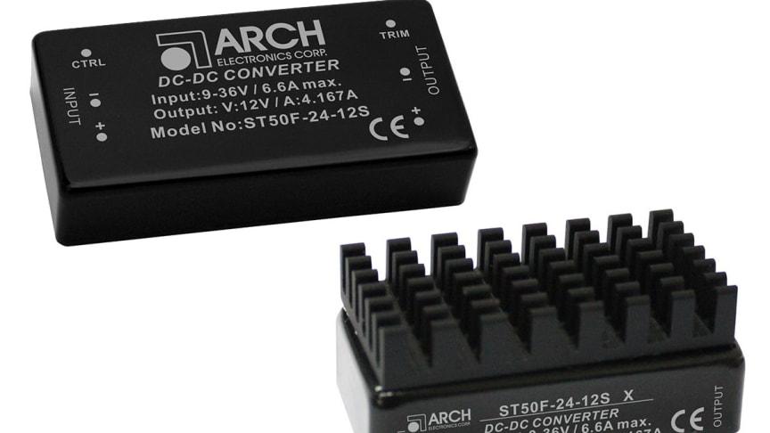 ST50F är en ny kompakt 50-watts isolerad DC/DC-omvandlare från vår leverantör Arch Electronics.