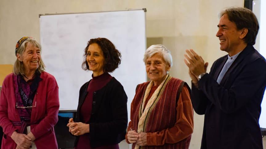 Social Initiative Forum 2019, Egypt: Truus Geraets, Joan Sleigh, Ute Craemer, Helmy Abouleish (Photo: Samuel Leon Knaus)
