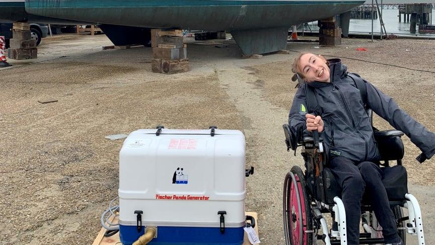 Fischer Panda UK has donated a generator to Natasha Lambert for her Atlantic crossing on catamaran 'Blown Away' later this year