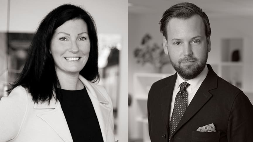 Sofia Branting och Samuel Söderling öppnar MOHV-kontor i Tyresö.