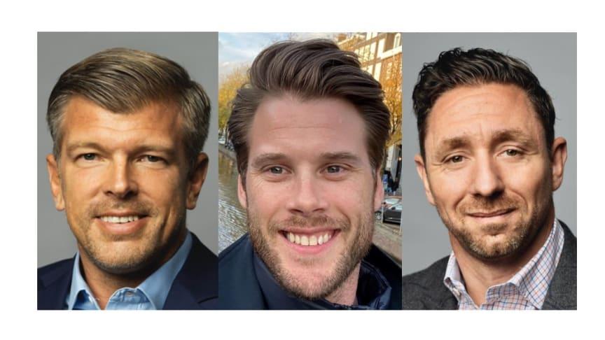 Seth Ryding, CSO Global Sales, Johan Larsson, Head of Americas and Stephen Osborn, Head of EMEA.