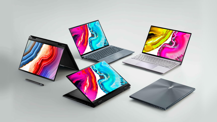ASUS presents complete laptop lineup with OLED displays