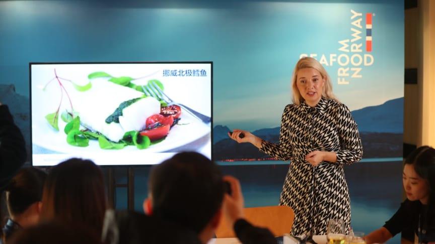 Bildetekst: Victoria Braathen. Foto: Norges sjømatråd