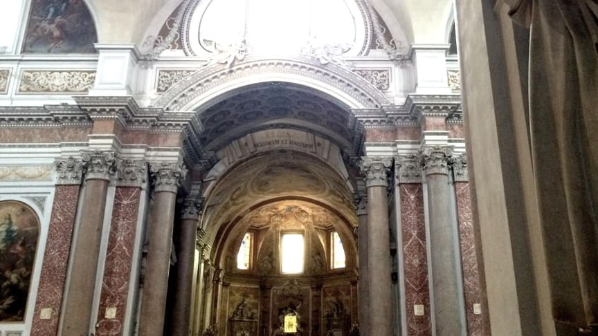 Interiör från Santa Maria degli Angeli. Fotograf: Benjamin Ekman
