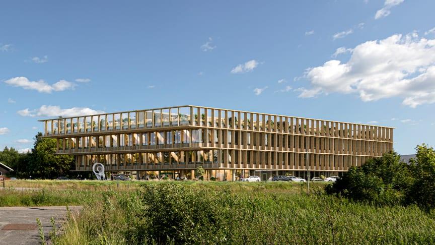 RO-Gruppen får uppdraget att bygga Viared Center –  en ny knutpunkt för företag och anställda i den växande företagsparken väster om Borås.