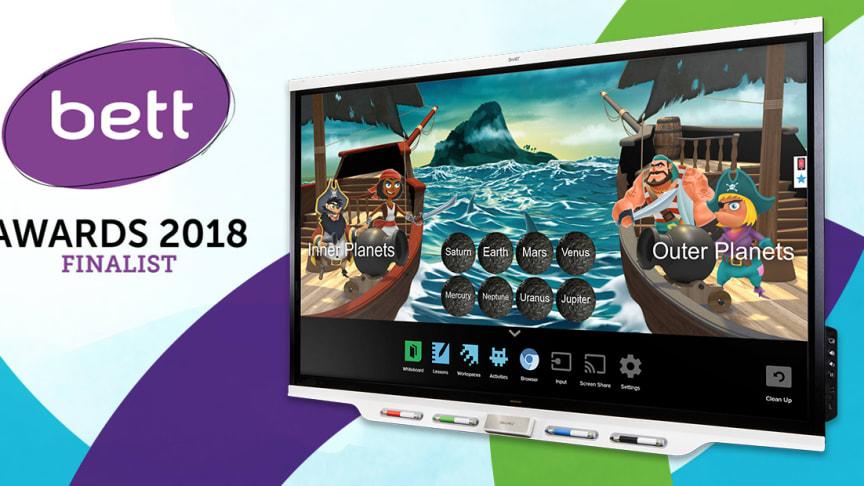 SMART Board iQ 7000 utsedd till finalist till BETT Awards 2018