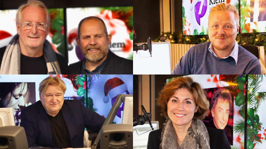 RØPER SINE JULEFAVORITTER: (f.v.) Eyvind Hellstrøm, Truls Svendsen, Kurt Nilsen, Jørn Hoel og Sissel Kyrkjebø er gjesteprogramledere på Julekanalen P7 Klem i desember. FOTO: P4