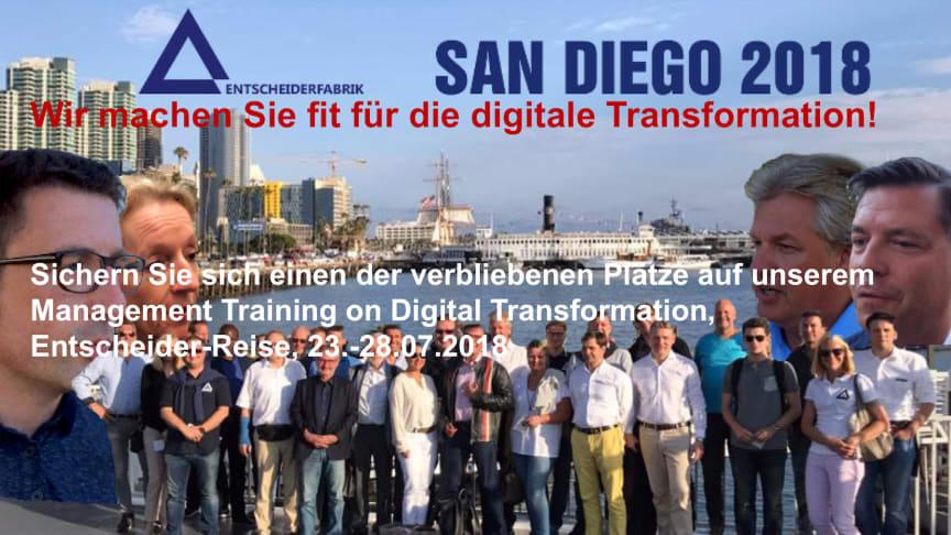 Entscheider-Reise USA 2018 mit Management Training on Digital Transformation - sichern Sie sich Ihren Platz!