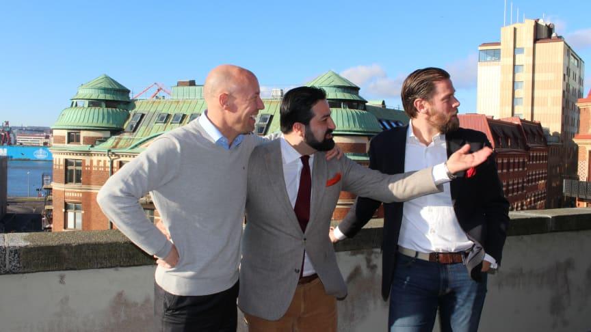 Fr vänster, Mats Wikström, Gabriel Ghavami, Per Danielsson