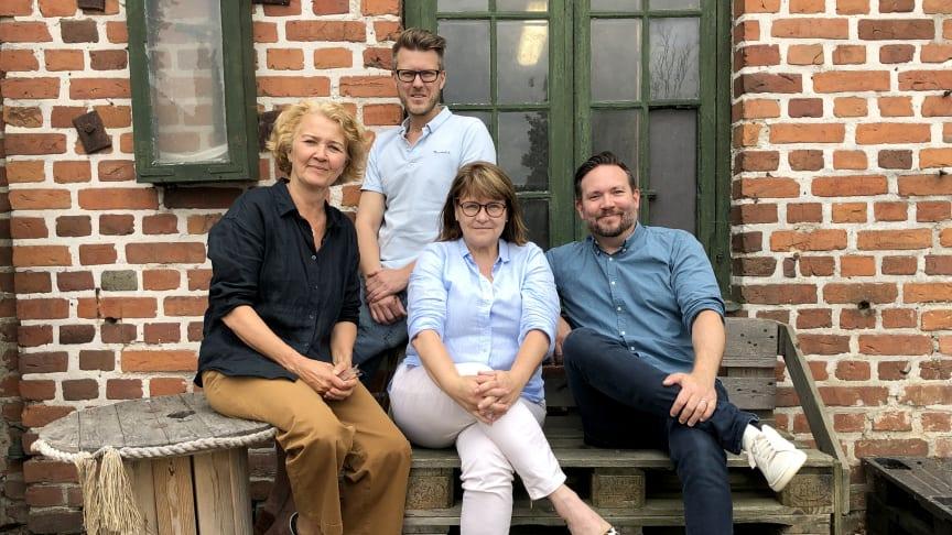 Anna Lind Lewin och Carina Olofsson Gavelin från Skånska Drycker tillsammans med Magnus Servin och Martin Bard på southerndestination.se.