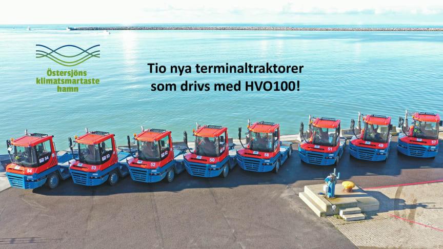 Tio nya klimatsmarta terminaltraktorer i Trelleborgs Hamn