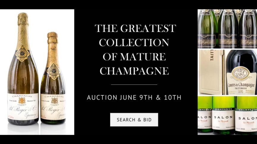 THE GREATEST COLLECTION OF MATURE CHAMPAGNE - champagne auction June 9th & 10th