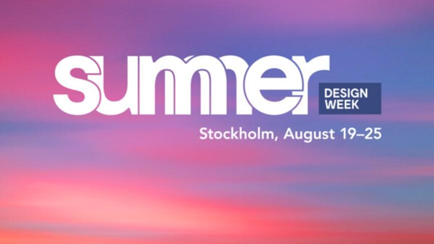 Summer Design Week bjuder in till designfest!